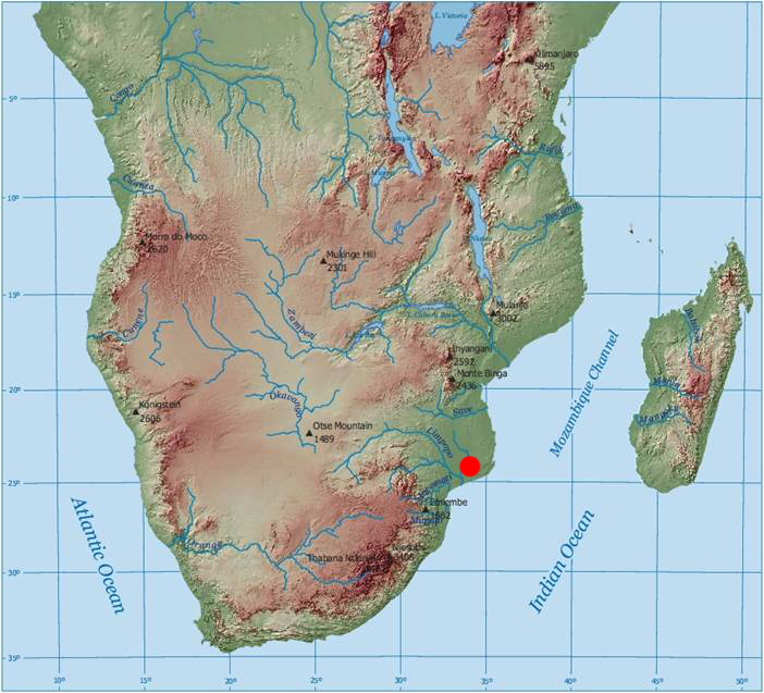Historical archaeology in mozambique society for historical map of africa and mozambique sciox Choice Image