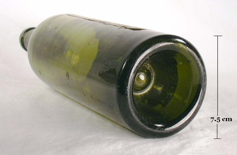 Wine champagne bottles for How to break bottom of glass bottle