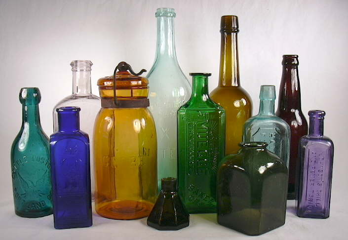 Bottle colors page Painting old glass bottles