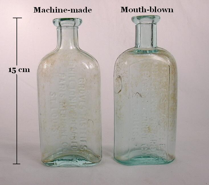 Dating old glass bottles