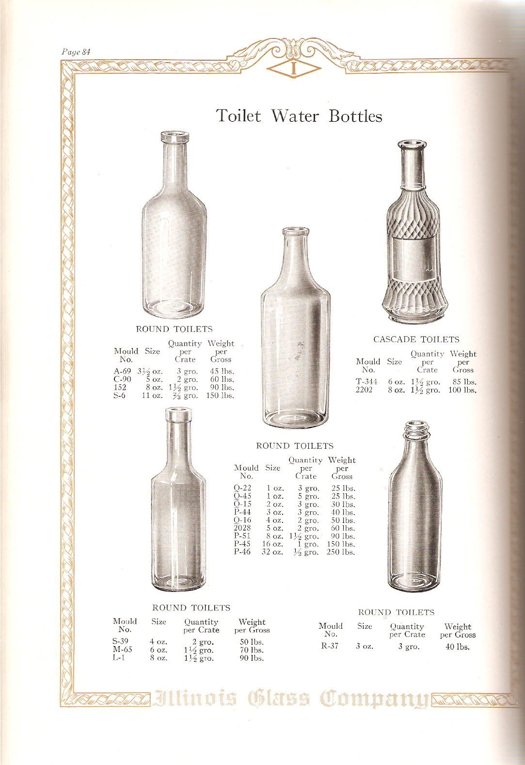 Illinois glass co 1926 catalog page 84 toilet water bottles biocorpaavc Gallery