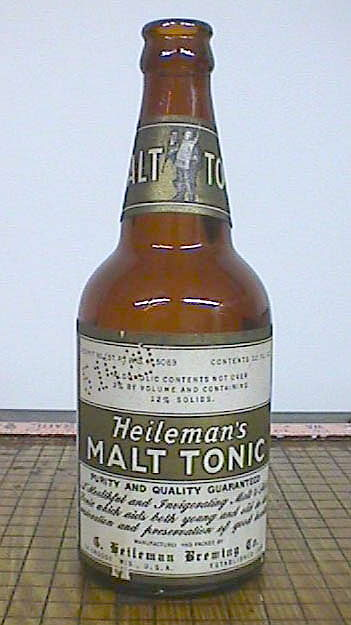 Hyperlink to an image of a pre-Prohibition malt tonic bottle with label.