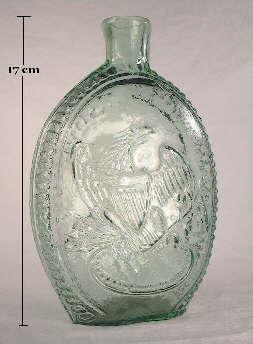 Washington-Eagle flask reverse; click to enlarge.