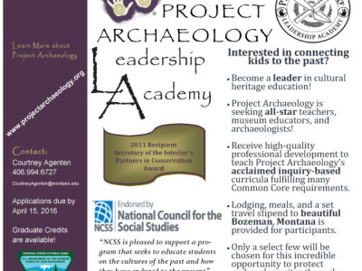 Project Archaeology: Expanding Archaeology Education through the Leadership Academy