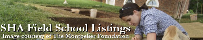 SHA Field School Listings