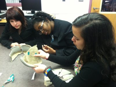 Archaeologists Working with High School Students